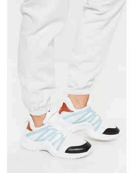 White Arched Color Detail Sneakers by Missguided