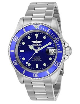 Invicta Men's 9094 Ob Pro Diver Collection Stainless Steel Watch With Link Bracelet, Silver/Blue by Invicta