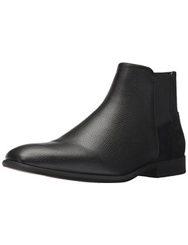 Calvin Klein Men's Larry Tumbled Leather Ankle Bootie by Calvin+Klein