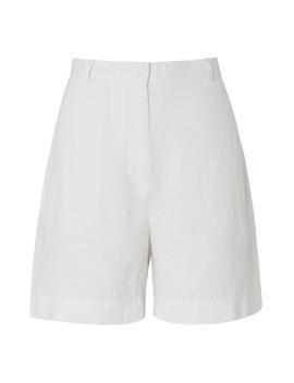 Elpis White Linen Shorts by L.K.Bennett
