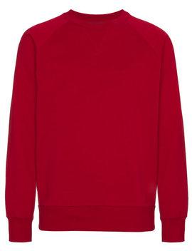 Y 3 Red Logo Crew Neck Sweatshirthome Men Clothing Sweatshirts by Y 3