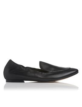 Darla Black Leather Flat by L.K.Bennett