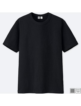 Men Uniqlo U 100 Percents Cotton Crew Neck Short Sleeve T Shirt by Uniqlo