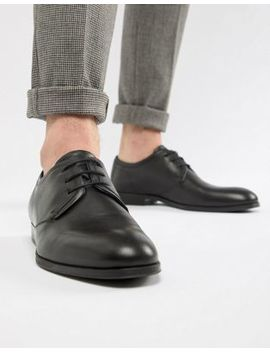 Hugo Boheme Leather Derby Shoe In Black by Hugo
