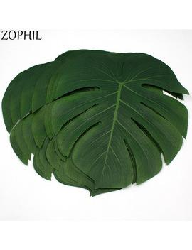 Zophil 12pcs Artificial Summer Syeterm Turtle Leaf For Party Decoration Faux Foliage Tree Diy Home Ornament Plants Supplies by Zophil