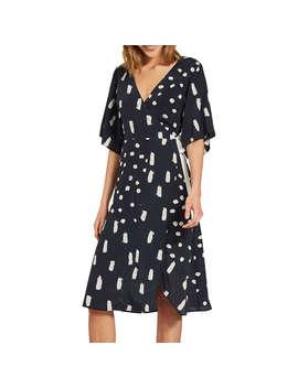 Mint Velvet Ida Print Wrap Dress, Multi by Mint Velvet