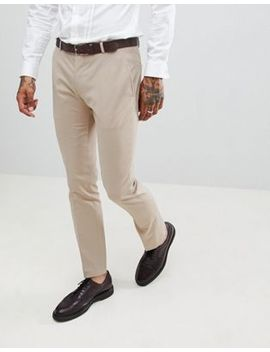 Twisted Tailor Wedding Super Skinny Suit Pants In Beige by Twisted Tailor