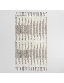 Taupe Double Diamond Woven Kilim Astrid Indoor Outdoor Rug by World Market