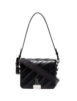 Off White Black Binder Clip Shoulder Baghome Women Bags Shoulder Bags by Off White