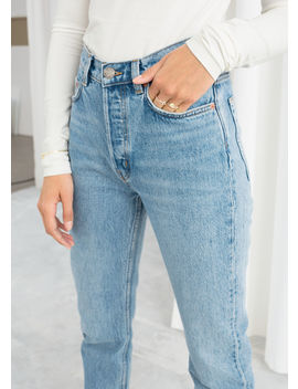 Straight High Rise Jeans by & Other Stories