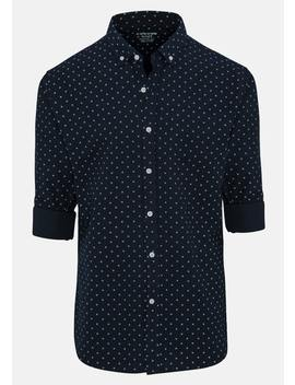 Navy Medal Casual Shirt by Connor