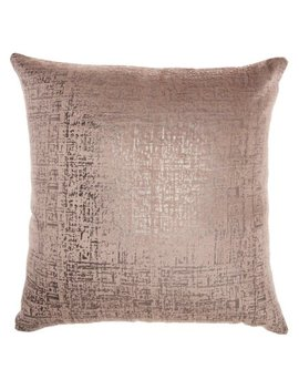 Inspire Me! Home Decor Distressed Metallic Nude Throw Pillow by Nourison