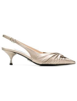 Pradaknot Detail Slingback Pumpshome Women Shoes Pumps by Prada