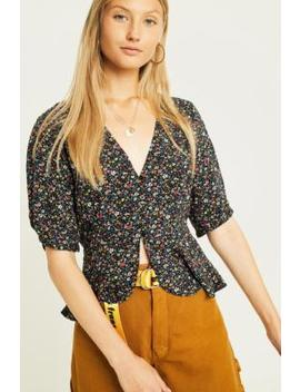 Uo Ditsy Floral Tea Blouse by Urban Outfitters