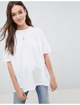 Asos Design Super Oversized T Shirt With Drop Shoulder In White by Asos Design