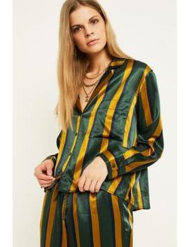 Uo   Haut De Pyjama à Rayures Verticales En Satin by Urban Outfitters