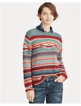 Cotton Silk Rollneck Sweater by Ralph Lauren