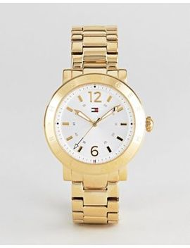 Tommy Hilfiger Aubrey Watch In Gold by Tommy Hilfiger