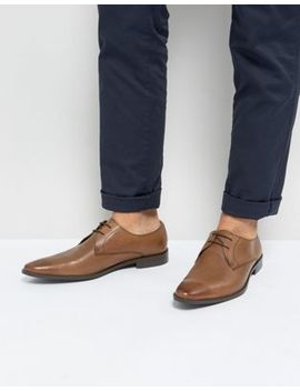 Frank Wright Derby Shoes In Tan Leather by Frank Wright
