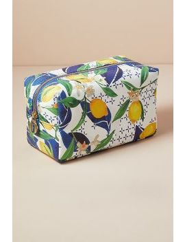 Fonfique Lemon Print Cosmetics Case by Fonfique
