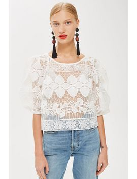 Organza Lace Blouse by Topshop