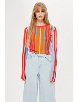 Vertical Stripe Top by Topshop