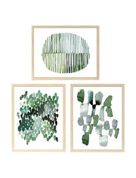 """Straight Fit 3pk Decorative Wall Art Set Emerald   16""""X20""""   Project 62™ by Project 62™"""