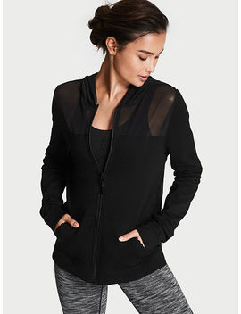 Smooth Terry & Mesh Hoodie by Victoria's Secret
