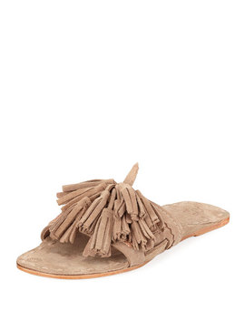 Noona Slide Sandal With Tassels by Figue