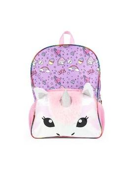 "16"" Unicorn Kids' Backpack   Purple/Pink by Fashion Accessory Bazaar"