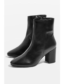 Elise Leather Boots by Topshop