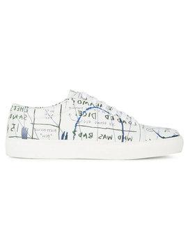 кроссовки с принтом граффити by Jean Michel Basquiat X Browns