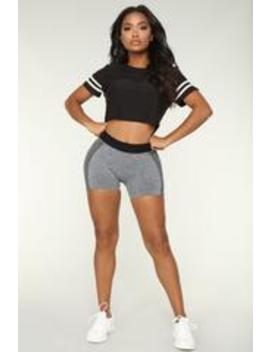 Win The Race Seamless Active Shorts   Grey by Fashion Nova