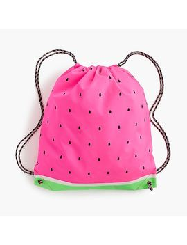 Girls' Watermelon Drawstring Backpack by J.Crew