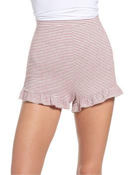Embry Ruffle Hem Lounge Shorts by Bb Dakota