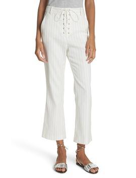 Allegra Stripe Lace Up Pants by Veronica Beard