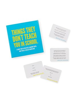 Things They Don't Teach You In School Game by Uncommon Goods