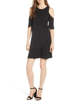 Hyde Cold Shoulder T Shirt Dress by Cupcakes And Cashmere