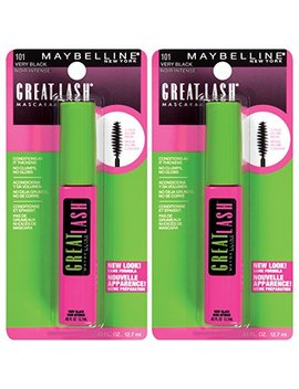 Maybelline New York Great Lash Washable Mascara Makeup, Very Black, 2 Count by Maybelline New York