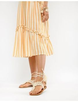 Parklane Crochet Tie Leg Sandals by Sandals