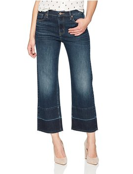 Denim Bloom Women's High Rise Wide Leg Released Hem Jean by Denim+Bloom