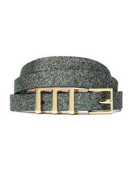 Glittered Leather Belt by Maje