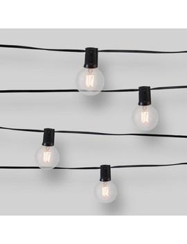10ct String Lights Zig Zag Filament   G50 Clear Bulbs   Smith & Hawken™ by Smith & Hawken™