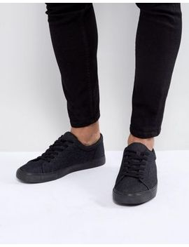 Asos Lace Up Trainers In Dark Denim by Asos