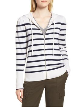 Cashmere Stripe Hoodie by Nordstrom Signature