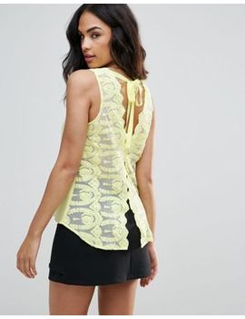 Frnch Tie Back Vest by Top