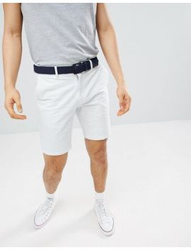 River Island Slim Fit Shorts In Blue Stripe by River Island