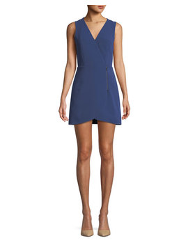 Lennon Side Zip Mini Dress by Alice + Olivia
