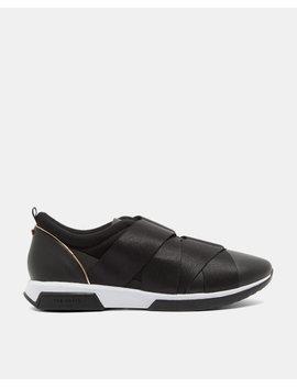 Leder Sneakers Mit Elastikriemen by Ted Baker