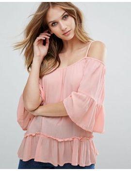 Vero Moda Bardot Peplum Blouse by Vero Moda